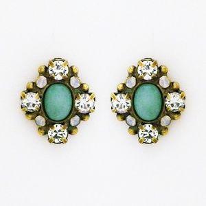 """Sorrelli Fancy Stud Earrings, Antique Gold 3/4"""""""